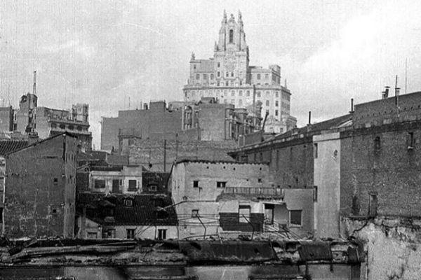 Vista de Madrid desde Malasaña en los años30.