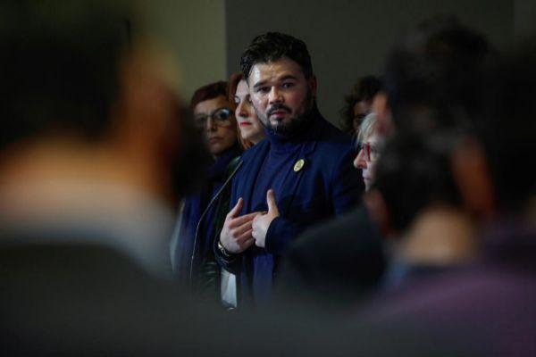 Rufián recordó ayer la condición de 'derrotado' de Sánchez.