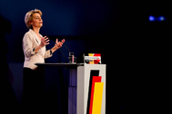 Leipzig (Germany).- Nominated European Commission President Ursula <HIT>von</HIT> <HIT>der</HIT> <HIT>Leyen</HIT> speaks during a Party Congress of the Christian Democratic Union (CDU) in Leipzig, Germany, 22 November 2019. CDU Party Congress takes place from 22 to 23 November 2019. (Alemania) EPA/