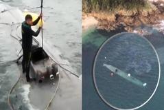 Se hunde tras ser remolcado a puerto el narcosubmarino con 3.000 kilos de cocaína