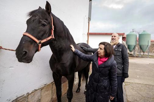Margarita Robles, la semana pasada durante la visita al Centro de...