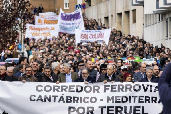 Una de las manifestaciones convocadas por Teruel Existe.