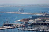 Panorámica del Puerto de Alicante, la semana pasada.