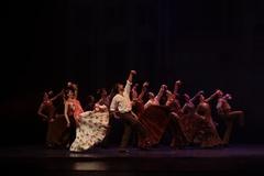 El Ballet Flamenco de Andalucía en un momento del '25 Aniversario'.
