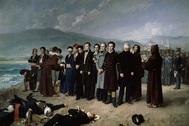 ''El fusilamiento de Torrijos', obra de Antonio Gisbert que se expone en El Prado, museo que él mismo dirigió en 1866 .