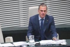 El portavoz de Vox, Javier Ortega Smith, en el pleno
