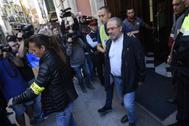 Joan Reñé, ex presidente de la Diputación de Lérida, el día de su detención, en 2018, por cobrar de testaferros vinculados a TV3.