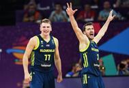 Doncic y Dragic, durante el último Eurobasket.