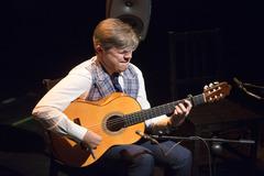 El guitarrista pacense Pedro Sierra, durante su actuación en los 'Jueves Flamencos'.