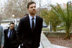Xabi Alonso, a su llegada a la Audiencia Provincial en enero.
