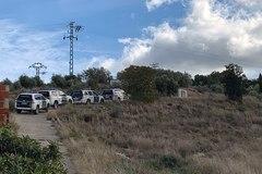 Dispositivo de búsqueda de la Guardia Civil en el Monte Valiente de Manuel.