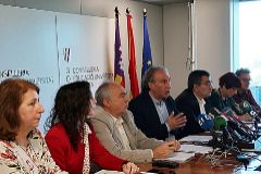 El conseller de Educación, Martí March, presentando la nueva ley.