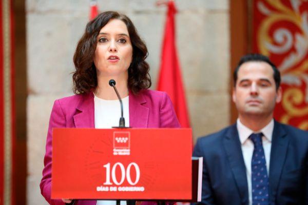 Madrid, 28 de noviembre de 2019. La presidenta de la Comunidad de...