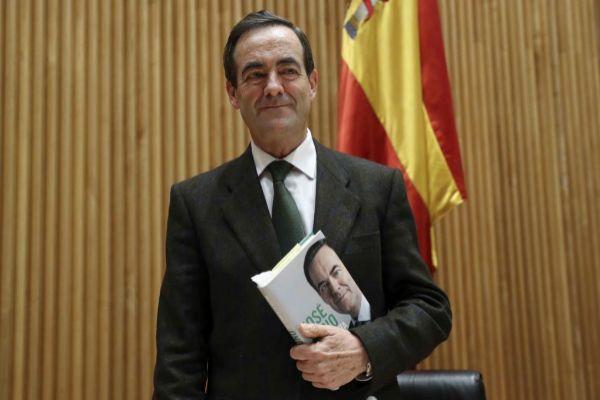 José Bono, durante la presentación de su libro, el pasado lunes, en...