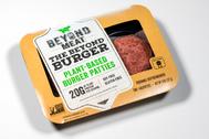 Un envase de hamburguesa de 'beyond meat'.