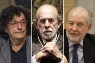 De izqda. a dcha., María Luisa Balaguer, Fernando Valdés y Juan Antonio Xiol, los magistrados del TC que formularán un voto conjunto a favor de Oriol Junqueras.