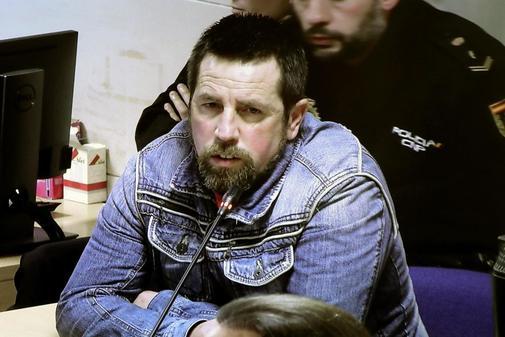 José Enrique Abuín Gey, alias El Chicle, en un momento del juicio...