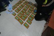 Más de 25 kilos de heroína incautada por la Policía Nacional.