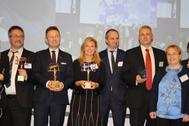 Los galardonados, entre quienes está la alcaldesa de Castellón, Amparo Marco.