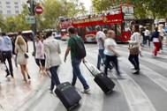 El turismo es uno de los sectores más destinados a cambiar. En la imagen, una de las zonas más turísticas de Valencia.