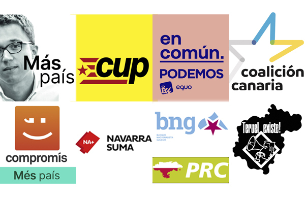 Los logotipos de las ocho candidaturas que consiguieron entre dos y un...