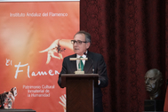 Manuel Martín Martín en la conferencia que pronunció días atrás el Paraninfo de la Universidad de Sevilla