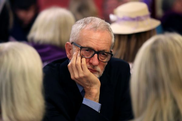 Britain&amp;apos;s opposition Labour Party leader Jeremy <HIT>Corbyn</HIT>...
