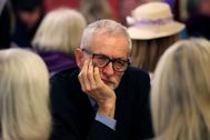 Britain's opposition Labour Party leader Jeremy <HIT>Corbyn</HIT> visits north east Derbyshire