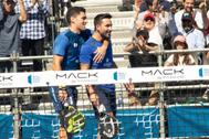 Sanyo Gutiérrez y Maxi Sánchez celebran su victoria en México.