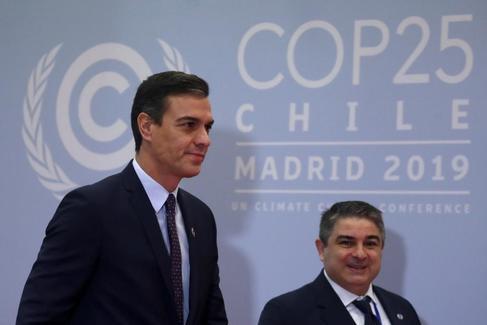 El presidente del Gobierno en funciones, Pedro Sánchez-
