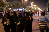 A picture made available on 18 April 2018 shows a <HIT>Saudi</HIT> Arabian women on a commercial street in Riyadh, <HIT>Saudi</HIT> <HIT>Arabia</HIT>, 09 February 2018. (to go with dpa-story about <HIT>Saudi-Arabia</HIT> in English text service) Photo: Oliver Weiken/dpa (Photo by Oliver Weiken/picture alliance via Getty Images)- FOTO PARA internacional por silvia