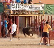 Festejo taurino en una localidad de Tarragona.