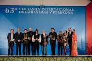 Los premiados en el 63 certamen de Habaneras y Polifonía.