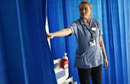 Una enfermera en el Hospital St. Thomas de Londres.