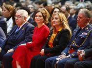 Isabel Díaz Ayuso, ayer, en la recepción de la Constitución.