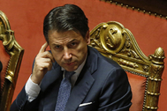 Rome (Italy).- Italian Prime Minister Giuseppe Conte at the Senate in Rome, Italy, 02 December 2019. Conte reported on the European Stability Mechanism (ESM) as coalition infighting deepen on the reform of the eurozone's bailout fund, media reported. Italy's government will hold a vote in parliament about the reform next week. (<HIT>Italia</HIT>, Roma) EPA/