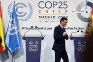 Pedro Sánchez en la COP25.