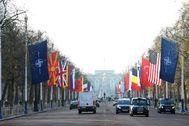 London (United Kingdom).- Flags of <HIT>NATO</HIT> member countries hang along the Mall ahead of the <HIT>NATO</HIT> Summit in London, Britain, 02 December 2019. <HIT>NATO</HIT> countries' heads of states an?d governments gather in London for a two-day meeting. (Reino Unido, Londres) EPA/