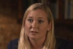 Virginia Giuffre durante la entrevista en la BBC.