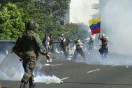 Una de las muchas jornadas violentas que se viven en Caracas.