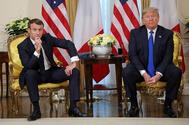 U.S. President <HIT>Trump</HIT> meets France's President <HIT>Macron</HIT>, ahead of the NATO summit, in London