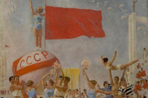 Obra de Samojvalov en la exposición de San Petersburgo.