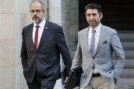 El conseller de Interior, Miquel Buch, y el de Políticas Digitales, Jordi Puigneró, en una imagen de archivo