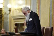 El presidente de la mesa de edad del Congreso que ayer dirigió la sesión, Agustín Zamarrón.