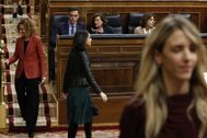 Meritxell Batet, Inés Arrimadas y Cayetena Álvarez de Toledo, este martes en el Congreso.
