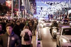 Tráfico en Gran Vía durante las pasadas Navidades