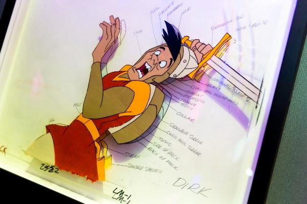 Un boceto de un personaje expuesto en 'Game On'.