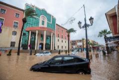 La localidad murciana de Los Alcázares, de nuevo afectada por graves inundaciones.