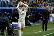 Bale, durante el partido ante el Alavés en Mendizorroza.