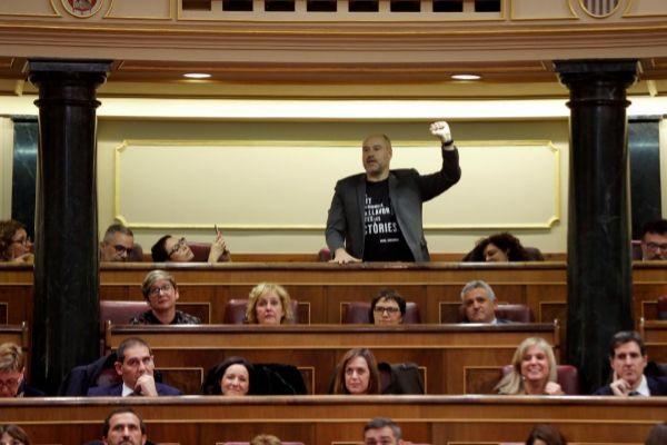 El diputado de ERC, Jordi Salvador, el martes en el Congreso.